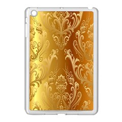 Golden Flower Vintage Gradient Resolution Apple Ipad Mini Case (white) by AnjaniArt