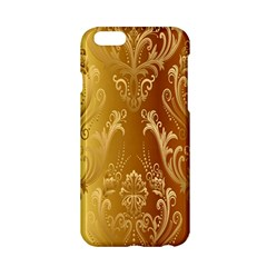 Golden Flower Vintage Gradient Resolution Apple Iphone 6/6s Hardshell Case by AnjaniArt