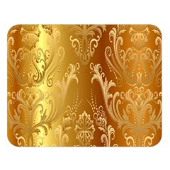 Golden Flower Vintage Gradient Resolution Double Sided Flano Blanket (large)