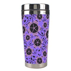 Flower Floral Purple Leaf Background Stainless Steel Travel Tumblers