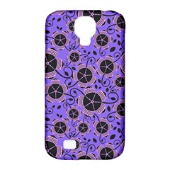 Flower Floral Purple Leaf Background Samsung Galaxy S4 Classic Hardshell Case (pc+silicone) by AnjaniArt