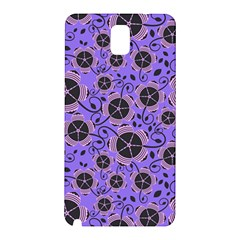 Flower Floral Purple Leaf Background Samsung Galaxy Note 3 N9005 Hardshell Back Case by AnjaniArt