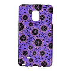 Flower Floral Purple Leaf Background Galaxy Note Edge by AnjaniArt