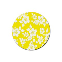Hawaiian Flowers Rubber Round Coaster (4 Pack)  by AnjaniArt