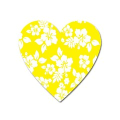 Hawaiian Flowers Heart Magnet by AnjaniArt