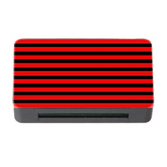 Horizontal Stripes Red Black Memory Card Reader With Cf