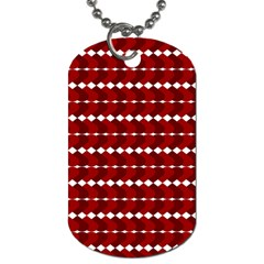 Heart Love Pink Red Wave Chevron Valentine Day Dog Tag (two Sides) by AnjaniArt
