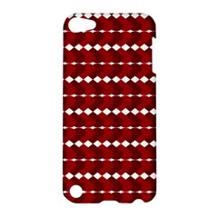 Heart Love Pink Red Wave Chevron Valentine Day Apple Ipod Touch 5 Hardshell Case