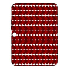 Heart Love Pink Red Wave Chevron Valentine Day Samsung Galaxy Tab 3 (10 1 ) P5200 Hardshell Case  by AnjaniArt