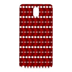 Heart Love Pink Red Wave Chevron Valentine Day Samsung Galaxy Note 3 N9005 Hardshell Back Case by AnjaniArt