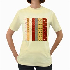 Love Heart Cake Valentine Red Gray Blue Pink Women s Yellow T Shirt by AnjaniArt