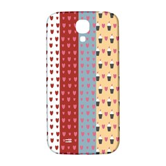 Love Heart Cake Valentine Red Gray Blue Pink Samsung Galaxy S4 I9500/i9505  Hardshell Back Case