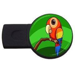 Parrots Pinterest Usb Flash Drive Round (2 Gb)