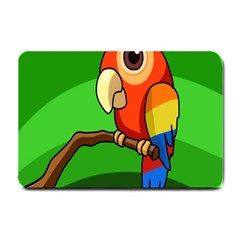 Parrots Pinterest Small Doormat  by AnjaniArt