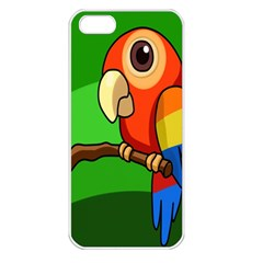 Parrots Pinterest Apple Iphone 5 Seamless Case (white) by AnjaniArt