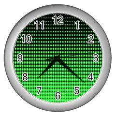 Neon Green Wall Clocks (silver)  by AnjaniArt