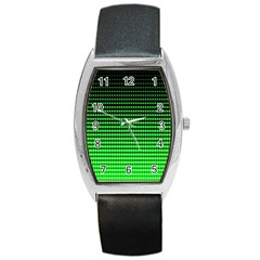 Neon Green Barrel Style Metal Watch