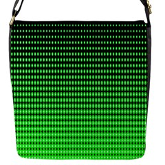 Neon Green Flap Messenger Bag (s)