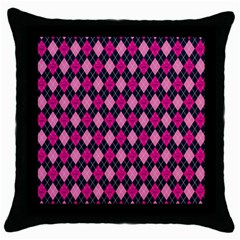 Pink Baby Showers Skull Chevron Wave Pink Purple Black Pink Throw Pillow Case (black) by AnjaniArt
