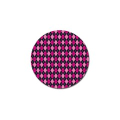 Pink Baby Showers Skull Chevron Wave Pink Purple Black Pink Golf Ball Marker (10 Pack) by AnjaniArt