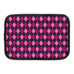 Pink Baby Showers Skull Chevron Wave Pink Purple Black Pink Netbook Case (medium)  by AnjaniArt