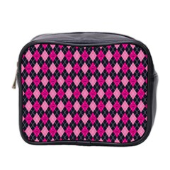Pink Baby Showers Skull Chevron Wave Pink Purple Black Pink Mini Toiletries Bag 2 Side