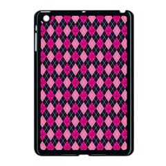 Pink Baby Showers Skull Chevron Wave Pink Purple Black Pink Apple Ipad Mini Case (black) by AnjaniArt
