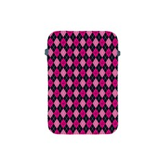 Pink Baby Showers Skull Chevron Wave Pink Purple Black Pink Apple Ipad Mini Protective Soft Cases by AnjaniArt