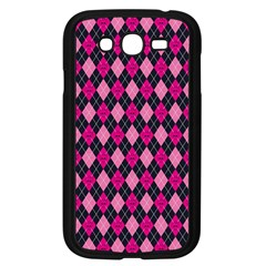 Pink Baby Showers Skull Chevron Wave Pink Purple Black Pink Samsung Galaxy Grand Duos I9082 Case (black) by AnjaniArt