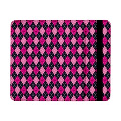 Pink Baby Showers Skull Chevron Wave Pink Purple Black Pink Samsung Galaxy Tab Pro 8 4  Flip Case by AnjaniArt