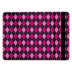 Pink Baby Showers Skull Chevron Wave Pink Purple Black Pink Samsung Galaxy Tab Pro 12 2  Flip Case by AnjaniArt