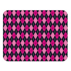 Pink Baby Showers Skull Chevron Wave Pink Purple Black Pink Double Sided Flano Blanket (large)