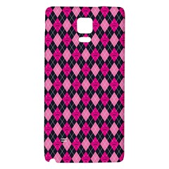Pink Baby Showers Skull Chevron Wave Pink Purple Black Pink Galaxy Note 4 Back Case