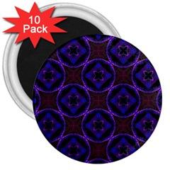 Background Colour Blue Flower 3  Magnets (10 Pack)