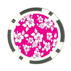 Pink Hawaiian Flower Poker Chip Card Guard (10 Pack) by AnjaniArt