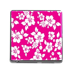 Pink Hawaiian Flower Memory Card Reader (square) by AnjaniArt