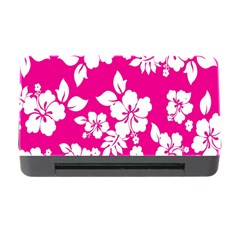Pink Hawaiian Flower Memory Card Reader With Cf