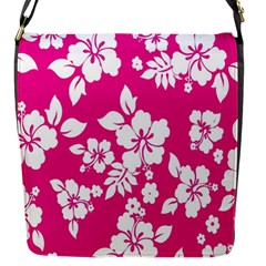 Pink Hawaiian Flower Flap Messenger Bag (s)