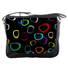 Retro Black Messenger Bags by AnjaniArt