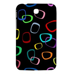 Retro Black Samsung Galaxy Tab 3 (7 ) P3200 Hardshell Case  by AnjaniArt