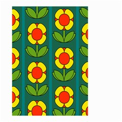 Retro Flowers Floral Rose Small Garden Flag (two Sides) by AnjaniArt