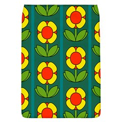 Retro Flowers Floral Rose Flap Covers (l)  by AnjaniArt