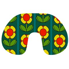 Retro Flowers Floral Rose Travel Neck Pillows