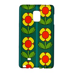 Retro Flowers Floral Rose Galaxy Note Edge by AnjaniArt