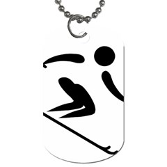 Alpine Skiing Pictogram  Dog Tag (two Sides) by abbeyz71