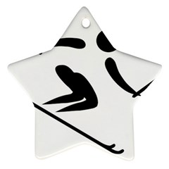 Alpine Skiing Pictogram  Star Ornament (two Sides) by abbeyz71