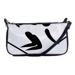 Alpine Skiing Pictogram  Shoulder Clutch Bags by abbeyz71