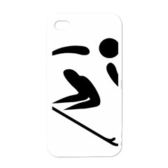Alpine Skiing Pictogram  Apple Iphone 4 Case (white) by abbeyz71