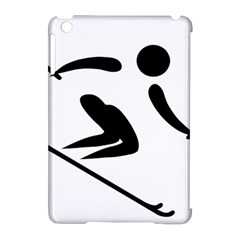 Alpine Skiing Pictogram  Apple Ipad Mini Hardshell Case (compatible With Smart Cover) by abbeyz71