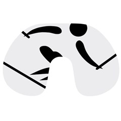 Alpine Skiing Pictogram  Travel Neck Pillows